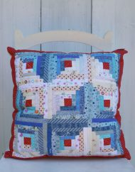 Cojin log cabin de patchwork