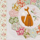 Bloque 7 del BOM Beyond the Porch de Natalie Bird con telas Tilda de patchwork