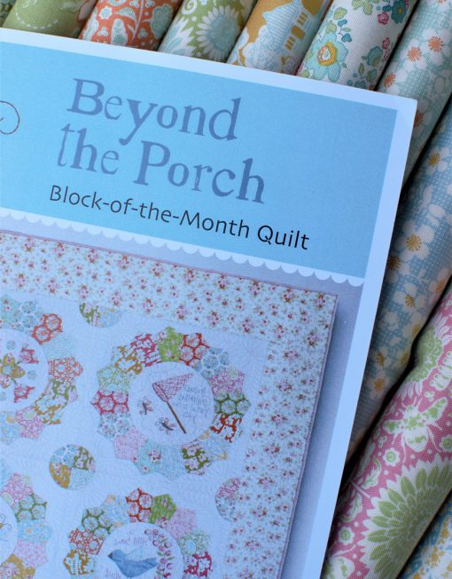BOM natalie Bird Beyond the Porch con telas de patchwork Tilda