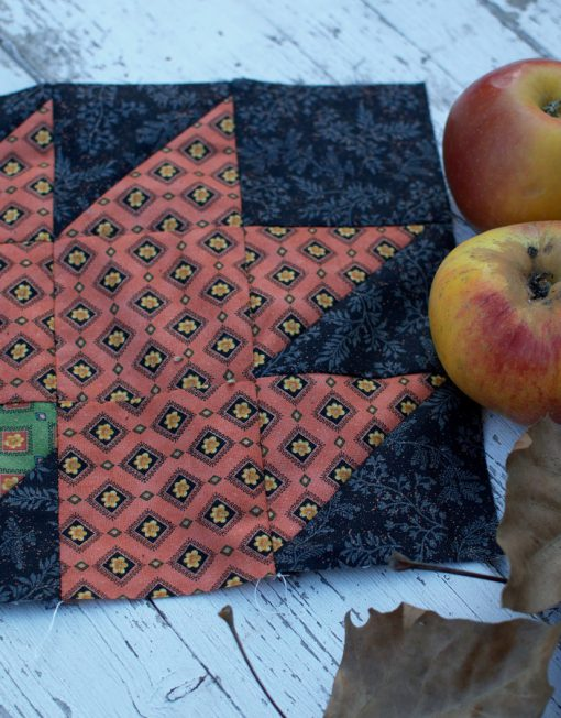 Bloque de patchwork maple leaf