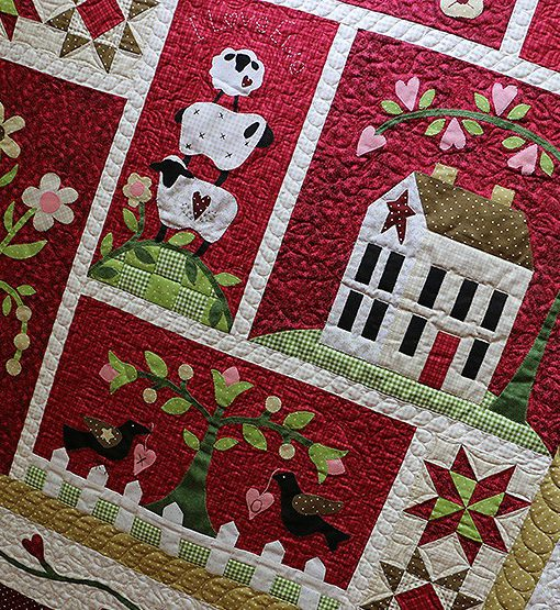 Colcha de patchwork BOM From the heart