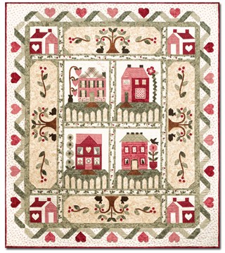 Colcha de patchwork Heart and Home